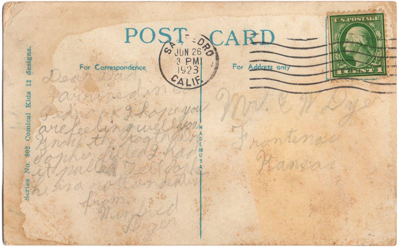 Черный кот, картинка открытки почтовой