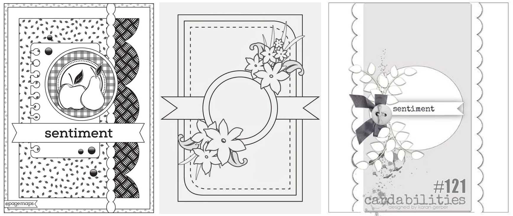 Скетчи для открыток в скрапбукинге