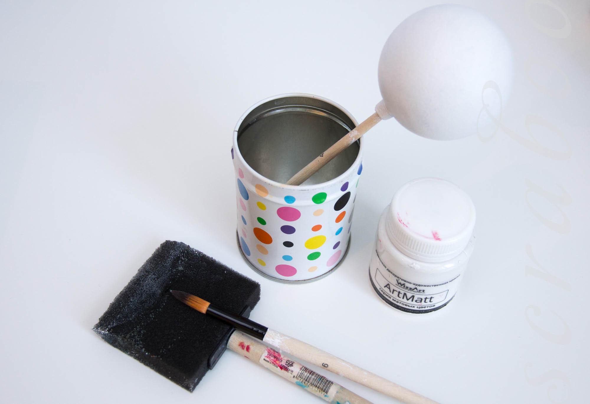 Покраска новогоднего шарика